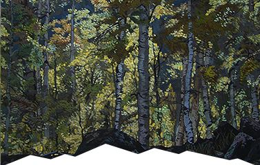 Painting of aspens by Eric Brown