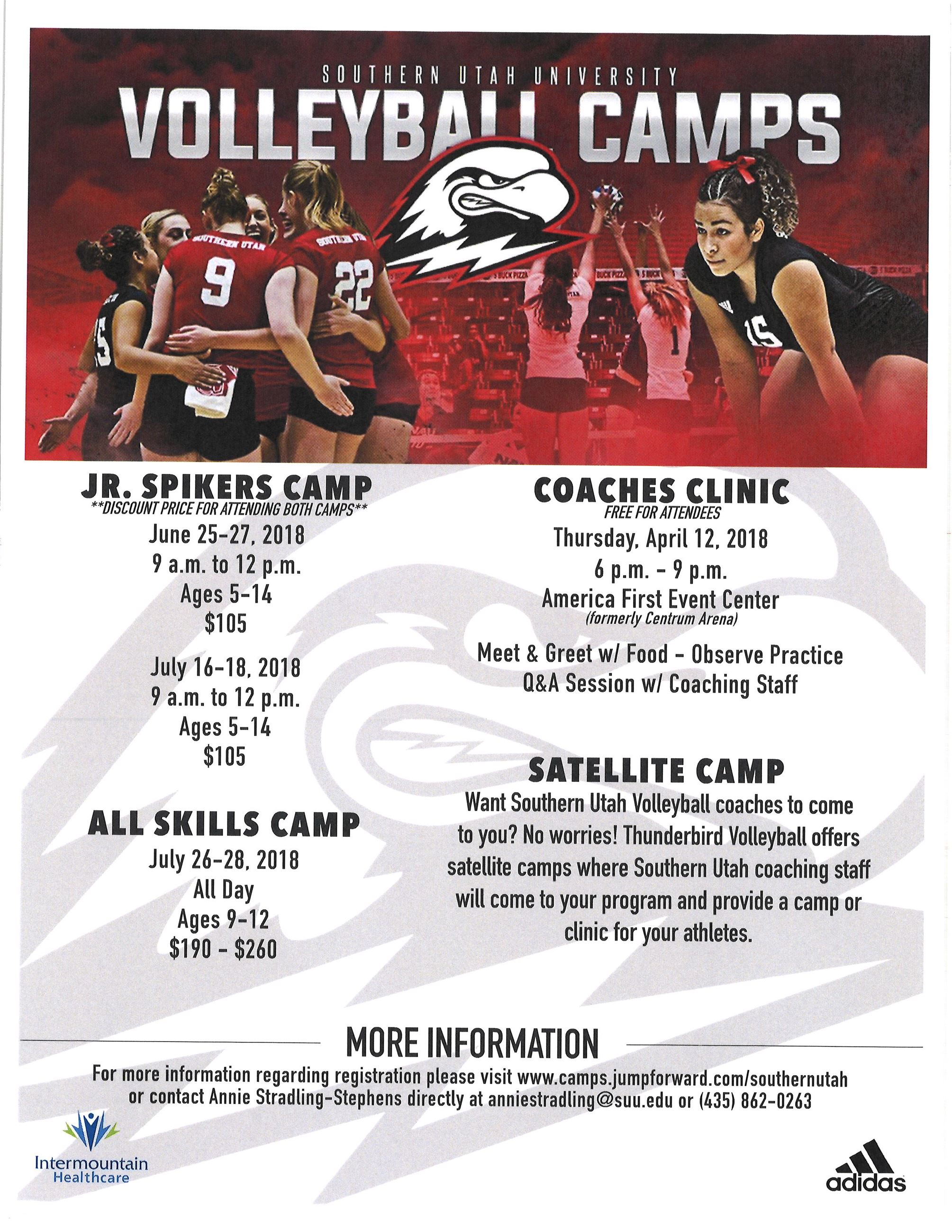 SUU Volleyball Camps