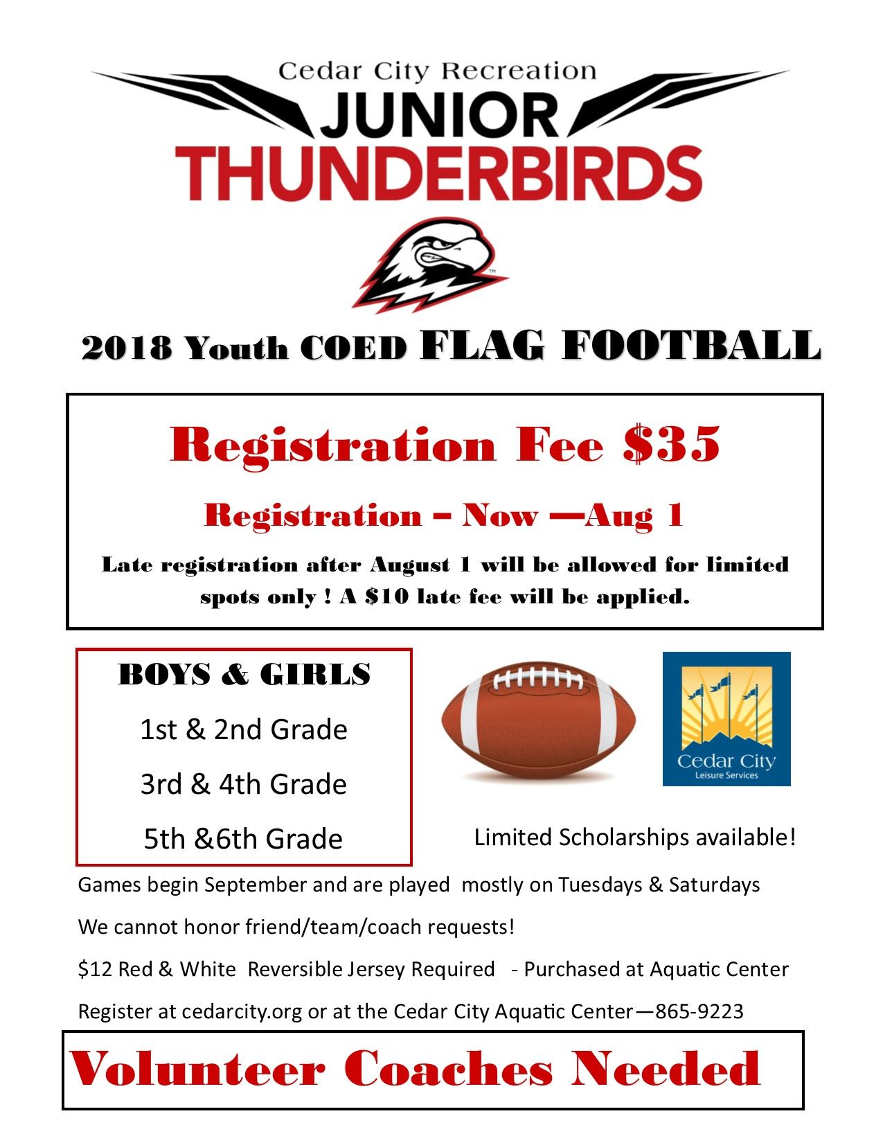 2018 Youth Flag Football  FLYER