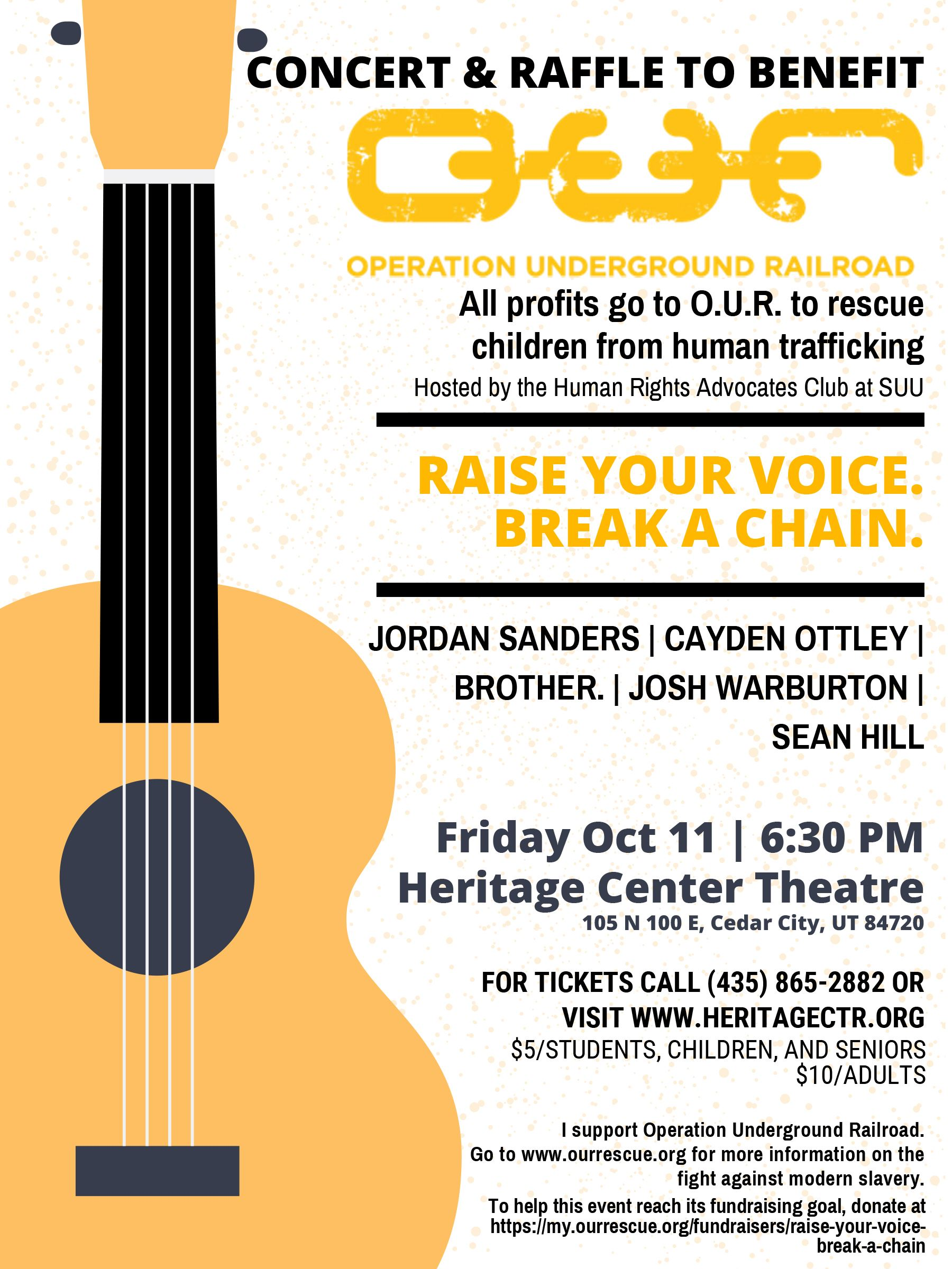 A1 October 11 Benefit Concert Poster