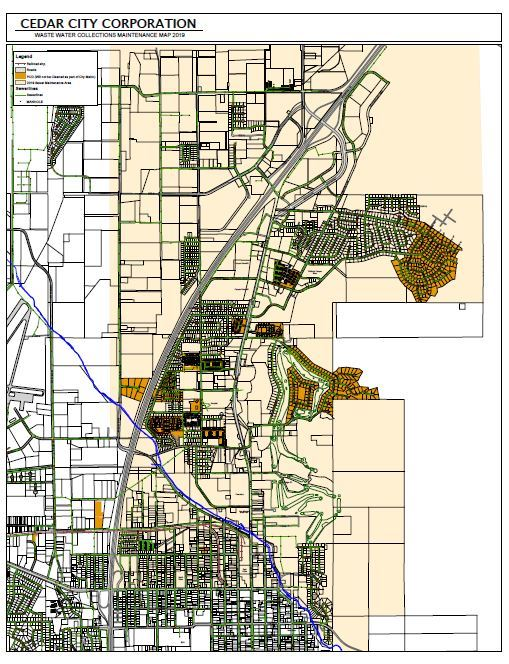 Waste Water Collections Maintenance Map 2019